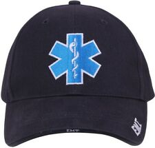 Navy Blue EMT Medical Deluxe Star of Life Adjustable Hat