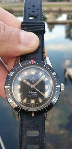 Enicar sherpa dive 40mm diver vintage oversize rare year 60