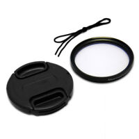 Canon Nikon Olympus Sony Camera 55mm Front Lens Cap Cover + UV Filter Combo
