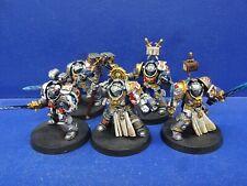 Grand Master + 4 Grey Knight Terminator de la grey Knights bien pintado
