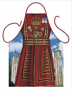 FUN NOVELTY APRON, BEEFEATER, TOWER OF LONDON, YEOMAN WARDER, FOR BBQ & KITCHEN