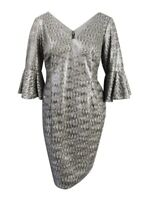 Adrianna Papell Women's Plus Size Sequined Sheath Dress