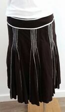 Pleated Unbranded Machine Washable Knee-Length Skirts for Women