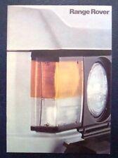 RANGE ROVER V8 Car Sales Brochure 1980's #3415