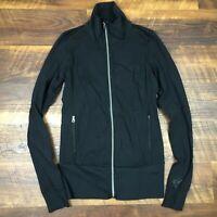 Lululemon Nice Asana Jacket Solid Black Women's size 4 Full Zip Up