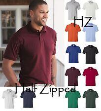 Hanes Mens Ecosmart Jersey Polo Sport Golf Shirt 054X 2XL 3XL 4XL 5XL 6XL