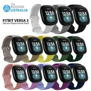 For Fitbit Versa 3/Sense Replacement Breathable Sports Silicone Band Strap