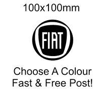 Fiat Logo Sticker decal bumper funny car x2