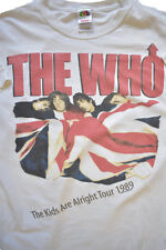 The Who The Kids Are Alirght Tour 1989 White Mens T-Shirt Size Large Replica