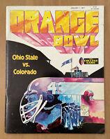 VINTAGE 1977 NCAA ORANGE BOWL PROGRAM OHIO STATE BUCKEYES vs COLORADO BUFFALOES