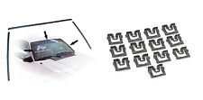 1979-1993 Mustang Upper & Side Windshield Trim Moldings w/ 13 Retainer Clips