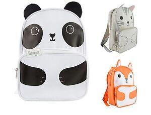 Backpack Kawaii Fox Cat Panda Childrens Kids School Bag Cute Animal Sass & Belle