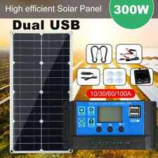 300w Watt Solar Panel Kit 12v Off Grid Battery Flexible Charge With Controller