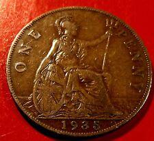 1935 United Kingdom Penny of King George V, Nice original details all around.