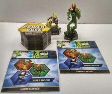 Ben 10 Alien Force HEATBLAST & SWAMPFIRE Figurines + 66 Web Cardz Trading Cards