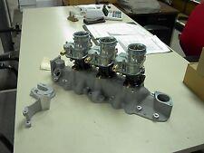 NOS Offy Offenhauser 49-53 8ba Ford Mercury flathead stromberg 97 3 carb intake