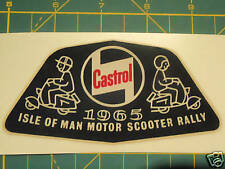 LAMBRETTA VESPA SCOOTER RALLY IOM STICKER 1965 TS1,RB,SX,LI,GP,GT,GS,