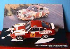 PORSCHE 911 CARRERA RS #2 MARC & MARIE ETCHEBERS RALLY 2000 VIRAJE 1974 IXO 1/43
