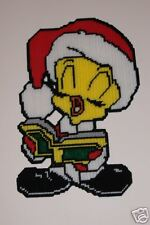 CAROLLING CANARY WALL HANGING IN PLASTIC CANVAS