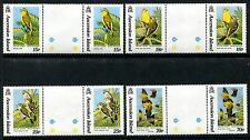Ascension 553-556,MNH.Michel 598-601 Birds 1993:Yellow canary Gutter Pair x11400