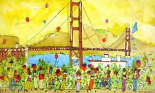Original Painting Signed Susan Pear Meisel Golden Gate