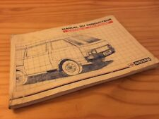 Nissan Vanette Furgoneta Combi 5 manual conductor instrucciones uso Ed. 90