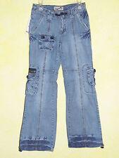 Markenlose Mädchen-Bootcut-Jeans aus 100% Baumwolle mit niedriger Bundhöhe (en)