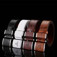 Fashion Men Smooth Buckle Business Casual Leather Belt Clothing Accessories