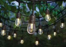 48Ft Outdoor Waterproof 24 LED Light Bulbs String Home Patio Garden- Warm White