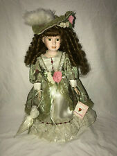 """ANNA COLLECTION  LIMITED EDITION """"CYNTHIA"""" PORCELLIAN DOLL CERT AUTHENCITY 17"""""""