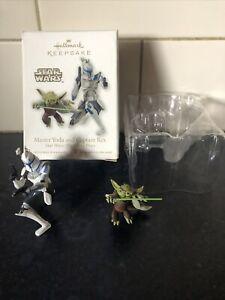 Hallmark Keepsake Ornament 2010 Star Wars Clone Wars Master Yoda & Captain Rex