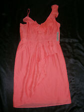 GIANNI BINI SHORT DRESS 6 DESERT ROSE PINK LUCIA RUFFLE WEDDING FORMAL PROM