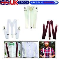 Tirantes Liso 35mm Ancho Resistente Ajustable Unisex Pantalones con Clip