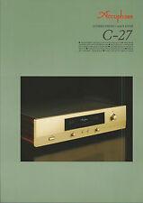 Accuphase C-27 Katalog Prospekt Catalogue Datasheet Brochure