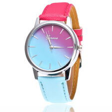 Beautiful Colorful Fashion Simple Watch Ladies Leather Belt Waist Watch For Gift