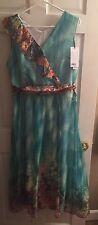HZY StyleWe Sleeveless Chiffon Boho A Line Dress Floral China 3XL Sz14 NWT