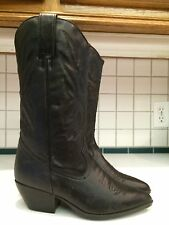 Maine Woods Ladies Thick Black Western Leather Upper Boots Size 9.5 M (Lot A)