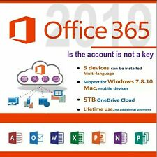 Office 365 Pro 2019, 5 Devices PC & MAC Instant Delivery & Global Support