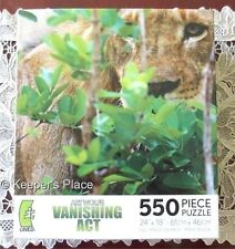 Art Wolfe Vanishing Act Lion Camouflage 550 pc Puzzle 18 x 24 New Sealed