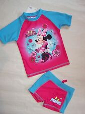 BNWT DISNEY MINNIE MOUSE GIRLS SWIMMING COSTUMES SET SWIMMERS - SIZE 1 TO 5