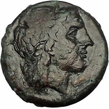 SYRACUSE in SICILY 287BC Zeus Eagle TYRANT HIKETAS Ancient Greek Coin i53871