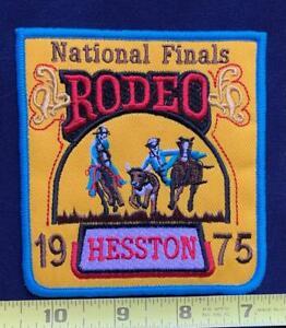 VINTAGE RODEO  - Horse & Cowboy  BULLRIDING Bronco Bustin PATCH