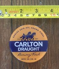 Carlton Draught Magnetic Barmans Decal West Coast Eagles AFL Grand Final 2018