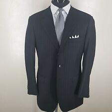 RAFFAELE CARUSO Gray Stripe Sport Coat 3 Btn Side Vents 110'S Wool 40R-Fit 42 R
