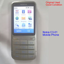 100% Genuine Original Nokia C3-01 5MP 3G WiFi Unlock Mobile Phone-Silver RM776