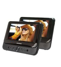 "Sylvania SDVD7750 7"" Dual Screen Portable DVD Player - Black"