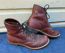 Men's Red Wing Heritage 8119 Oxblood 6 Inch Iron Ranger Work Boots Size 8 D USA