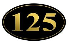 Personalized House Address Sign Plaque Aluminum Gold Numbers On Black HP010