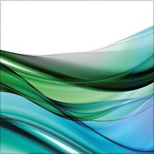 artissimo Glasbild 30x30cm Bild aus Glas Wandbild Wohnzimmer Welle abstrakt grün