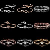 Fashion Simple Geometric Zircon Women Bracelet Bangle Jewelry Gift Wedding Party